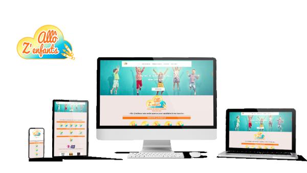 Réalisation du site Allo Z'enfants par Solutions Graph'us, agence web, création de sites et de logos  à Brignoles (83)