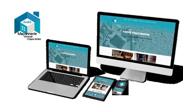 Réalisation du site André Maçonnerie par Solutions Graph'us, agence web, création de sites et de logos  à Brignoles (83)