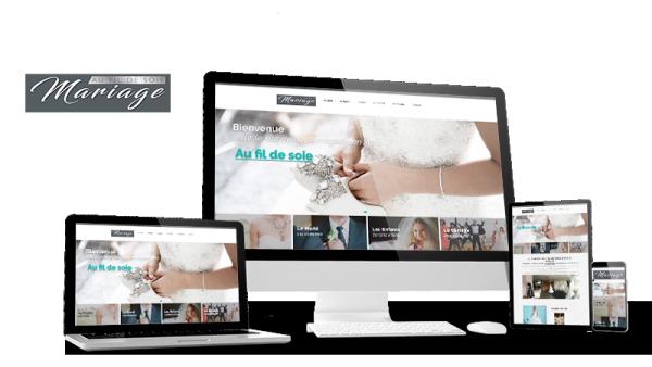 Réalisation du site Au Fil de Soie par Solutions Graph'us, agence web, création de sites et de logos  à Brignoles (83)