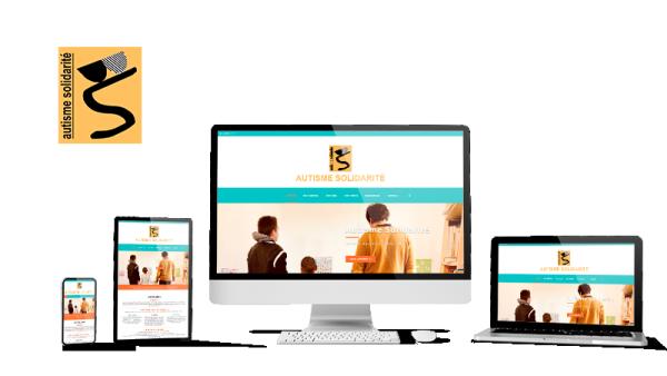 Réalisation du site Autisme Solidarité par Solutions Graph'us, agence web, création de sites et de logos  à Brignoles (83)