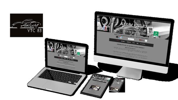 Réalisation du site Axium VTC 83 par Solutions Graph'us, agence web, création de sites et de logos  à Brignoles (83)