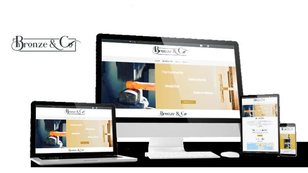 Réalisation du site Bronze and Co par Solutions Graph'us, agence web, création de sites et de logos  à Brignoles (83)