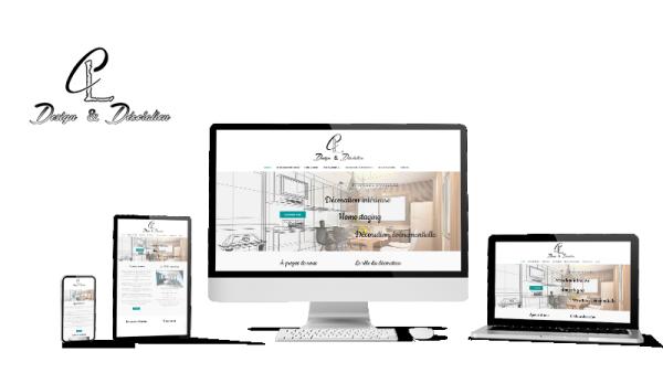 Réalisation du site CL Design et Décoration par Solutions Graph'us, agence web, création de sites et de logos  à Brignoles (83)