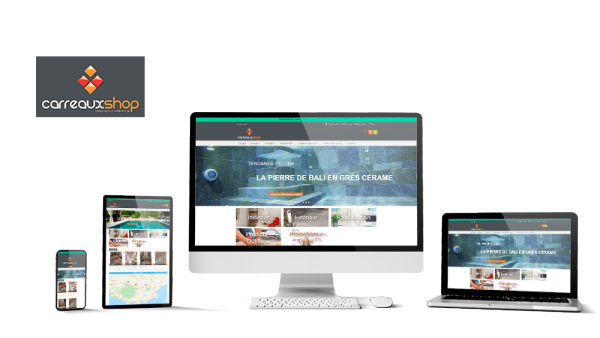 Réalisation du site Carreauxshop par Solutions Graph'us, agence web, création de sites et de logos  à Brignoles (83)