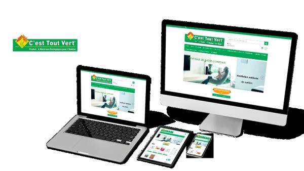 Réalisation du site C'est Tout Vert par Solutions Graph'us, agence web, création de sites et de logos  à Brignoles (83)