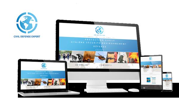 Réalisation du site Civil Défense Expert par Solutions Graph'us, agence web, création de sites et de logos  à Brignoles (83)