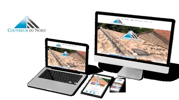 Réalisation du site Couvreur du Nord par Solutions Graph'us, agence web, création de sites et de logos  à Brignoles (83)