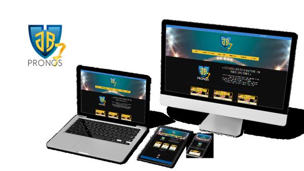 Réalisation du site JB7 Pronos par Solutions Graph'us, agence web, création de sites et de logos  à Brignoles (83)