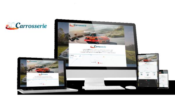 Réalisation du site LC Carrosserie par Solutions Graph'us, agence web, création de sites et de logos  à Brignoles (83)