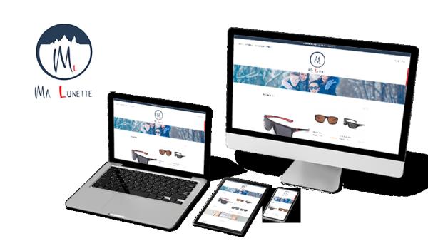 Réalisation du site Ma Lunette par Solutions Graph'us, agence web, création de sites et de logos  à Brignoles (83)