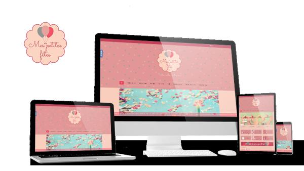 Réalisation du site Mes Petites Fêtes par Solutions Graph'us, agence web, création de sites et de logos  à Brignoles (83)