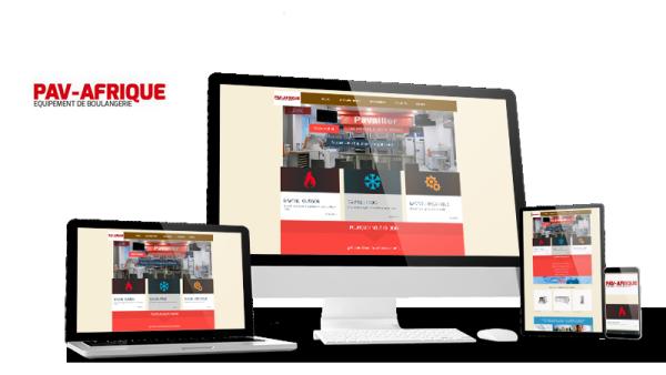 Réalisation du site PAV Afrique par Solutions Graph'us, agence web, création de sites et de logos  à Brignoles (83)