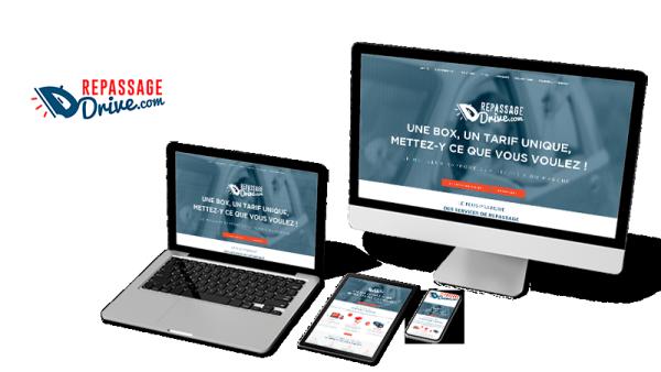 Réalisation du site Repassage Drive par Solutions Graph'us, agence web, création de sites et de logos  à Brignoles (83)