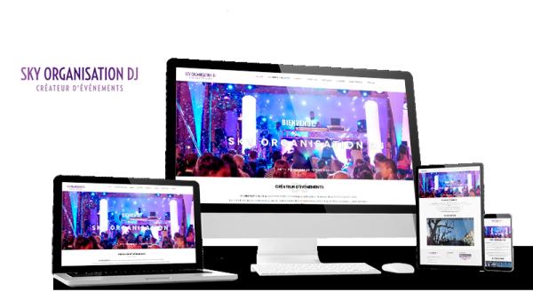 Réalisation du site Sky Organisation DJ par Solutions Graph'us, agence web, création de sites et de logos  à Brignoles (83)