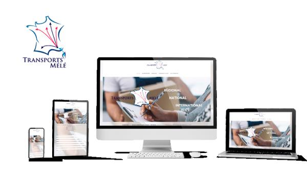 Réalisation du site Transports Mélé par Solutions Graph'us, agence web, création de sites et de logos  à Brignoles (83)