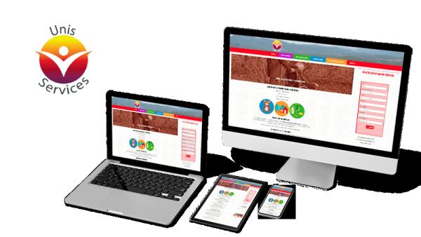 Réalisation du site Unis Services par Solutions Graph'us, agence web, création de sites et de logos  à Brignoles (83)