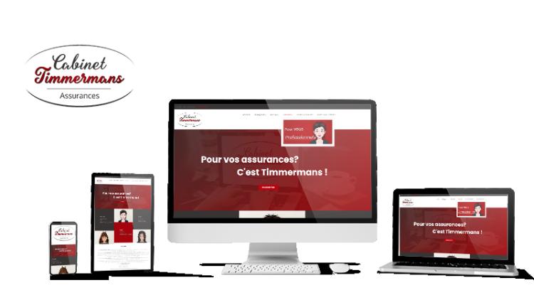 Réalisation du site Timmermans Assurances par Solutions Graph'us, agence web, création de sites et de logos  à Brignoles (83)