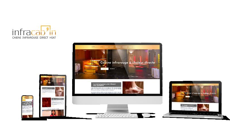 Réalisation du site Infracabin.fr par Solutions Graph'us, agence web, création de sites et de logos  à Brignoles (83)