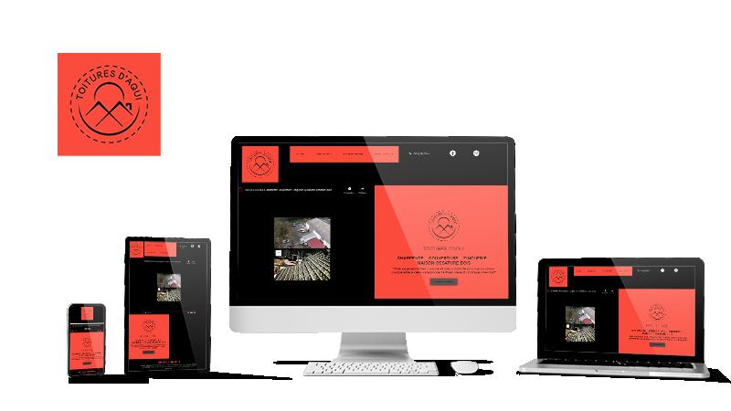 Réalisation du site Toitures d'Aqui par Solutions Graph'us, agence web, création de sites et de logos  à Brignoles (83)