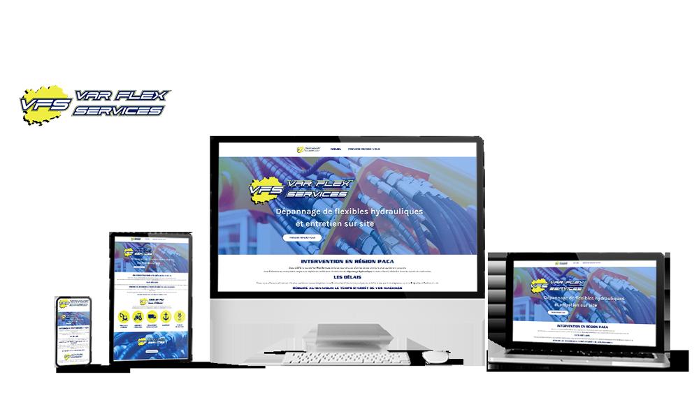 Réalisation du site Varflex Services par Solutions Graph'us, agence web, création de sites et de logos  à Brignoles (83)