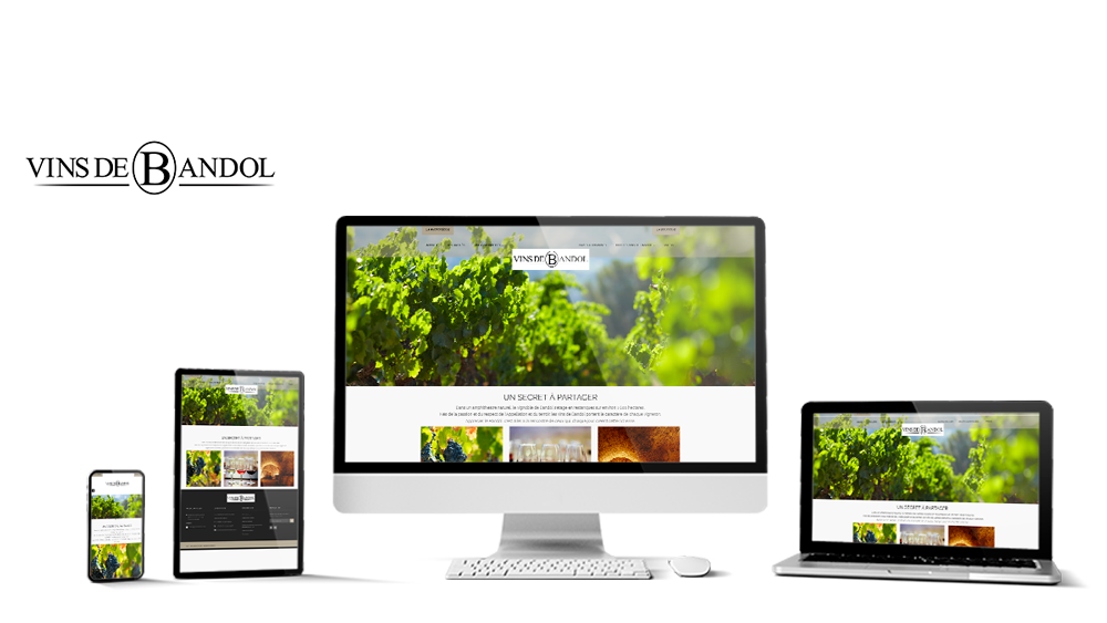 Réalisation du site Vinsdebandol.com par Solutions Graph'us, agence web, création de sites et de logos  à Brignoles (83)