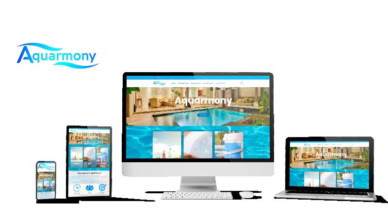 Réalisation du site Aquarmony.fr par Solutions Graph'us, agence web, création de sites et de logos  à Brignoles (83)