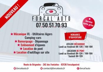 Avant / après : visuel publicitaire Forcal'Auto