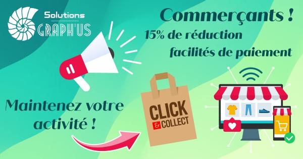 Site commerçant - Offre spéciale COVID -15%