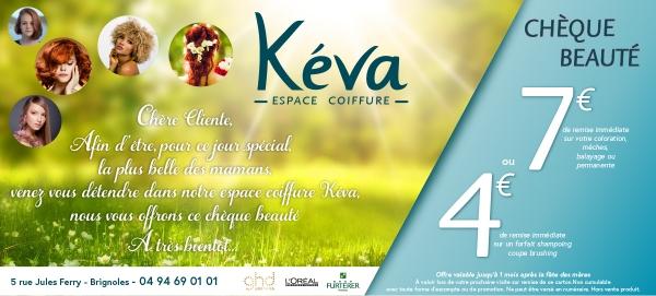 Visuel publicitaire (flyer) : Salon de coiffure Keva